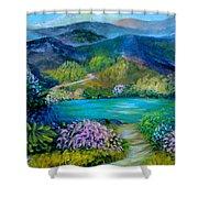 Lazy Lake 2 Shower Curtain