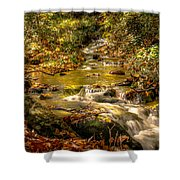 Lazy Mountain Water Fall Shower Curtain