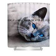 Lazy Summer Quote Shower Curtain