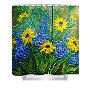 Lazy Susan Shower Curtain