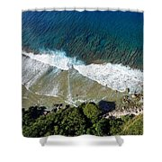 Lazy Waves Shower Curtain