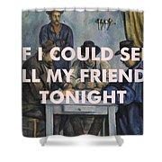 Lcd Soundsystem Lyrics Print Shower Curtain