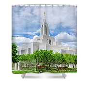 Lds Draper Temple Shower Curtain