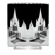 Lds - Twin Towers 1 Shower Curtain