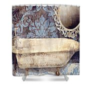 Le Bain Paris Blue Shower Curtain
