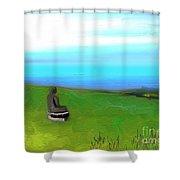 Le Boudha De Maui Shower Curtain
