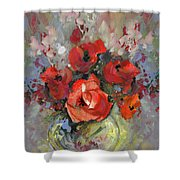 Le Bouquet De Valentine Shower Curtain