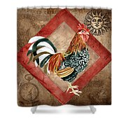Le Coq - Greet The Day Shower Curtain