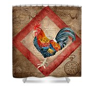 Le Coq - Timeless Rooster  Shower Curtain