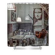 Lunch With A Smile Shower Curtain