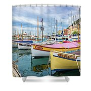 Le Fortune At Nice Harbor, France Shower Curtain