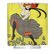 Le Frou Frou Vintage Poster By Leonetto Cappiello, 1899 Shower Curtain