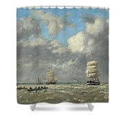 Le Havre, 1883 Shower Curtain