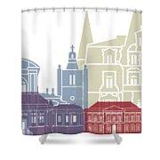 Le Havre Skyline Poster Shower Curtain