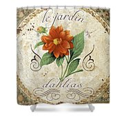 Le Jardin Dahlias Shower Curtain