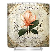Le Jardin Magnolias Shower Curtain