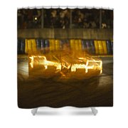 Le Mans On Fire Shower Curtain