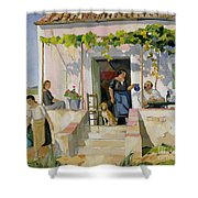 Le Mazet Shower Curtain by Armand Coussens