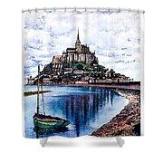 Le Mont, Saint Michel, France Shower Curtain