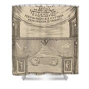 Le Nozze Degli Dei: Frontispiece Shower Curtain