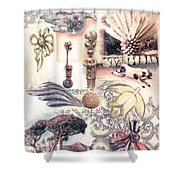Le Petite Pig Does Fly Shower Curtain