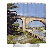 Le Pont Canal A Briare Shower Curtain