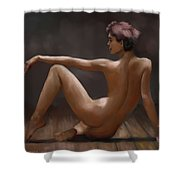 Le Poseur Shower Curtain