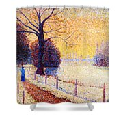 Le Puy In The Snow 1889 Shower Curtain