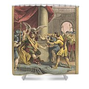 Le Roi, Le Milan, Et Le Chasseur (the King, The Kite, And The Hunter) Shower Curtain