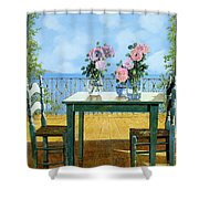 Le Rose E Il Balcone Shower Curtain