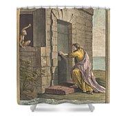 Le Thesauriseur Et La Singe (the Miser And The Monkey) Shower Curtain