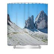 Le Tre Cime Di Lavaredo Shower Curtain