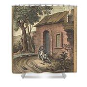Le Vieux Chat Et La Jeune Souris (the Old Catand The Young Mouse) Shower Curtain