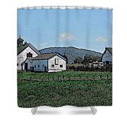 Lea Homestead Shower Curtain by DigiArt Diaries by Vicky B Fuller