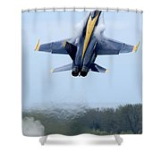 Lead Solo Pilot Of The Blue Angels Shower Curtain by Stocktrek Images