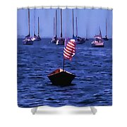 Leader Of The Pack- Bristol Rhode Island Oil Effect Shower Curtain
