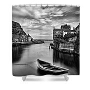 Leading Light At Staithes Shower Curtain