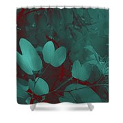 Leaf And Flower 3 Shower Curtain