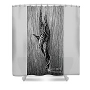 Leaf Entwined In Black And White Shower Curtain