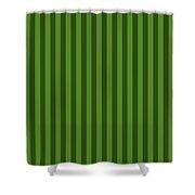 Leaf Green Striped Pattern Design Shower Curtain