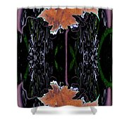 Leaf Melding Shower Curtain