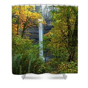Leaf Peeping And Waterfall Shower Curtain
