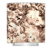 Leaf Stains Shower Curtain
