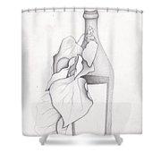 Leafy Bottle Shower Curtain