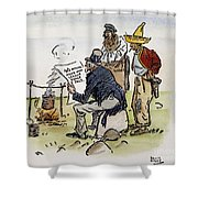 League Of Nations Cartoon Shower Curtain by Granger