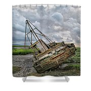 Lean To Port Shower Curtain