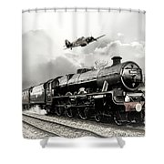Leander And Hurricane Shower Curtain