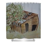 Leaning Esclante Shed Shower Curtain