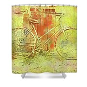 Leaning In Bicycle Shower Curtain
