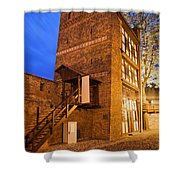Leaning Tower By Night In Torun Shower Curtain